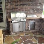Outdoor Cooking Area with Solid Concrete Top